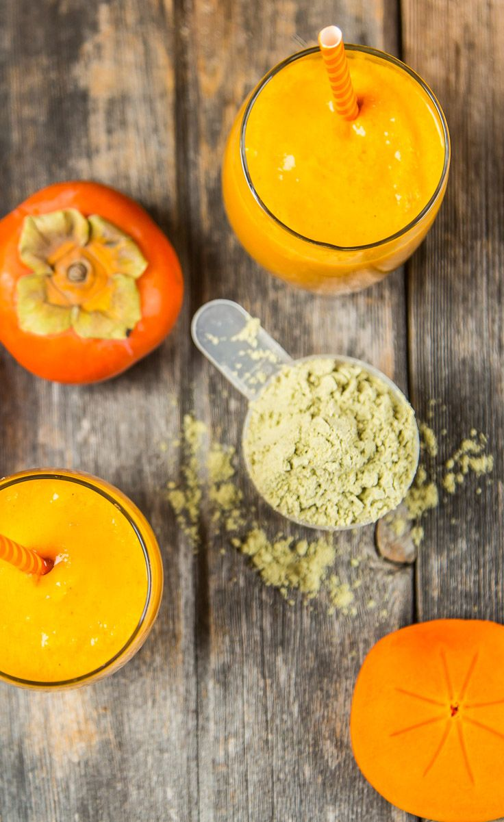 Persimmon Healthy Holiday Smoothie: As the temperature starts to decrease, my body begins to crave warming foods, but that doesn't mean all cooked meals. Ginger root can actually warm the body preparing you for athletic performance or keeping you comfortable in the winter months while still enjoying your cold morning smoothies.