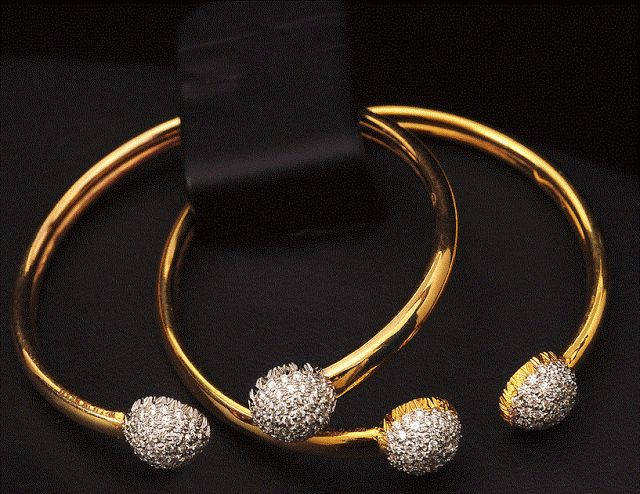 Diamond Baby Bangles ~ Latest Jewellery Designs