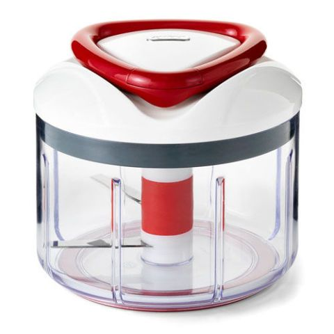 $22 BUY NOW  Best for the DIY-er  You know what they say: If you want something done right, do it yourself. This multi-blade, hand-powered food processor uses a pull design to blend ingredients in seconds — no electricity required. Just pull the handle until your ingredients are blended to your liking. It's great for travel and small kitchens.