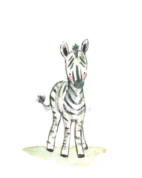 "Nursery Art -- ""ZEBRA"" -- Archival Print"