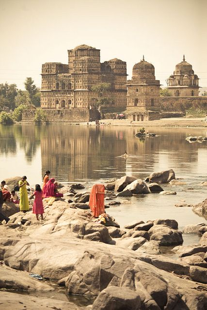 Orchha, India. The Bundela Palace, full of beautiful frescoes and remnants of shrines. Highly enchanting and off the beaten track.