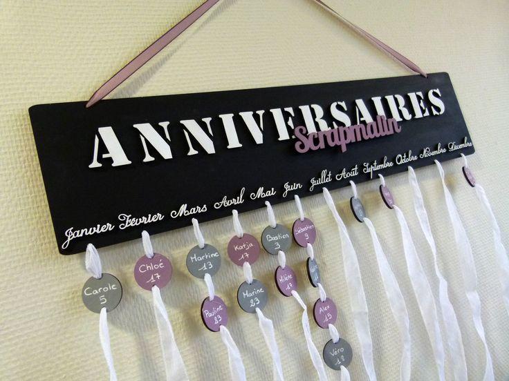 TUTO Calendrier des anniversaires - Le blog Scrapmalin (avec images)   Calendrier anniversaire ...