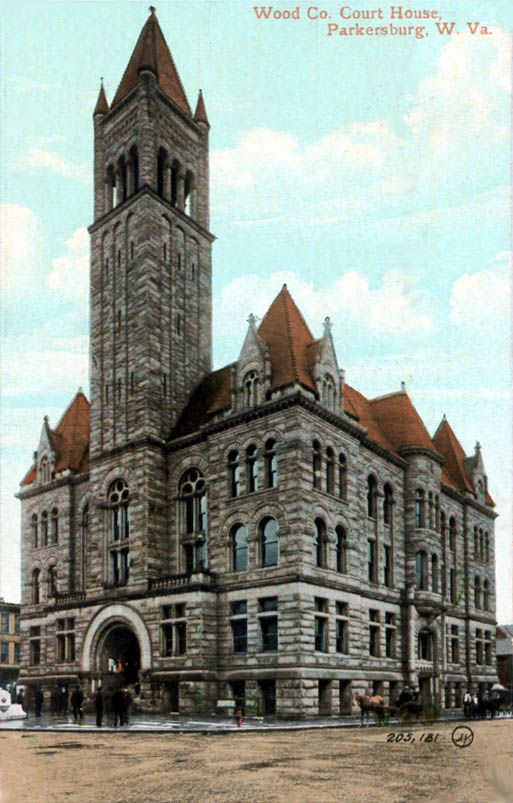 The Wood County Courthouse around 1905