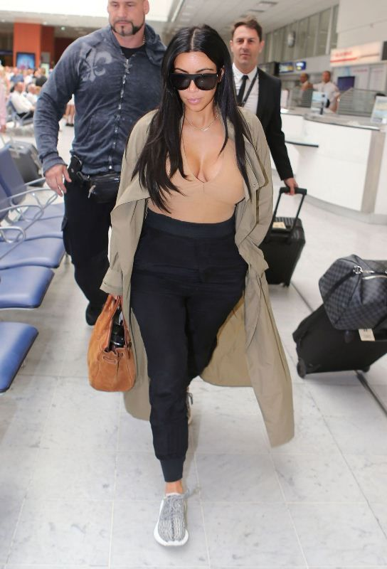 Kim Kardashian as spied at LAX airport in Los Angeles