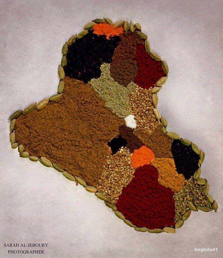 Especias más utilizadas en la cocina iraquí.