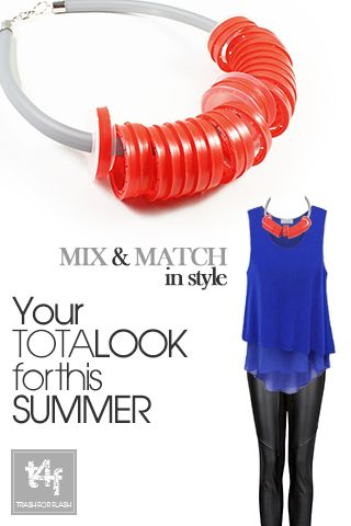 MIX & MATCH IN STYLE WITH T4F JEWELLERY!  Club Ur Life the Party Is On  Summer vibes are in the air Feel the groove and dress for a tempting Saturday night out!  ( Leggings by #MANGO – Top by #sheinside  – Necklace by #trash4flash )  #‎springsummer2013‬ #fashionjewellery #fashionnecklace #clubbing #summer #saturdaynight     www.trash4flash.com