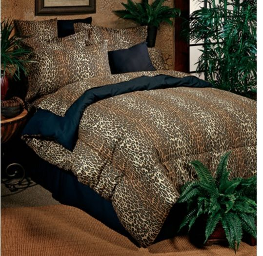 "Leopard Complete Bedding Comforter and Sheet Set in a classic leopard animal print includes all in one package!   Leopard / Cheetah 6 Pc Twin Comforter Bed in Bag Set Includes:  Twin Comforter 65"" x 90"" 1 Standard Pillow Sham 25"" x 31"" Bedskirt. Fits mattress 39"" x 75"" Flat Sheet Fitted Sheet 1 Pillowcase"