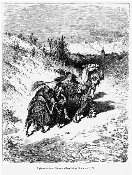 Gustave Dore  Иллюстрации  М.Сервантес  Дон Кихот