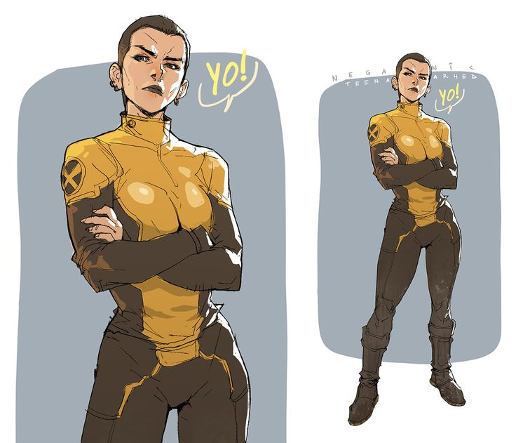 Negasonic Teenage Warhead, Hicham Habchi on ArtStation at https://www.artstation.com/artwork/6w9Dx