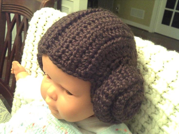 Crochet Pattern Princess Leia Hat : Princess Leia...I used the crochet football helmet pattern ...