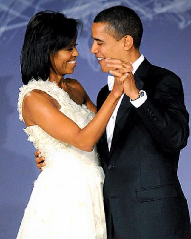 A Beautifully Elegant Couple Michelle And Barack Obama