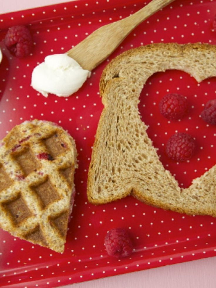 Waffle Heart Sandwiches - A Special Valentine's Day Lunch | Fruit recipes, valentine's day recipes, comfort food, brunch, breakfast, Easy Waffle recipes #brunch #breakfast #waffles #valentinesday