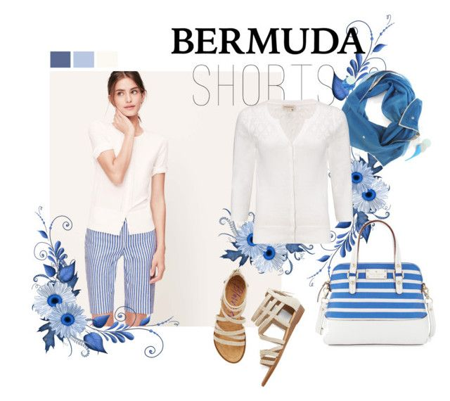"""""""64 Tricky Trend (Bermuda Shorts)"""" by lilica-k ❤ liked on Polyvore featuring LOFT, Silver Lining, Monsoon, Kate Spade and Bermudashorts"""