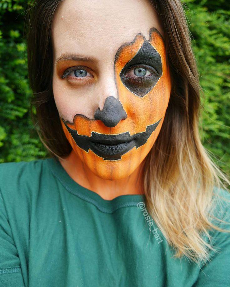 🎃 🎃 🎃 #everythingpumpkin (@rosie_bart) on Instagram #pumpkin #melting #halloween #facepaint #cosplay