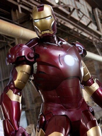 """Pin the """"ark reactor"""" on Iron Man. (Pinned only for picture.)"""