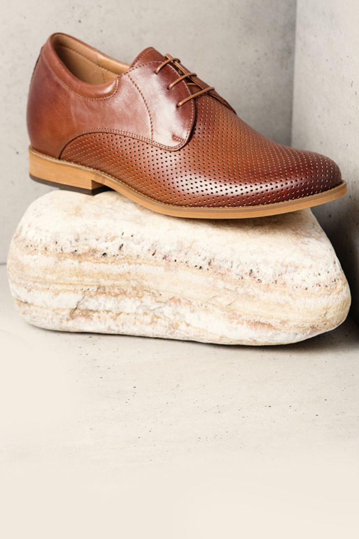 Podwyzszajace Skorzane Meskie Buty Brazowe Bruce Ce6131 01 Dress Shoes Men Oxford Shoes Dress Shoes