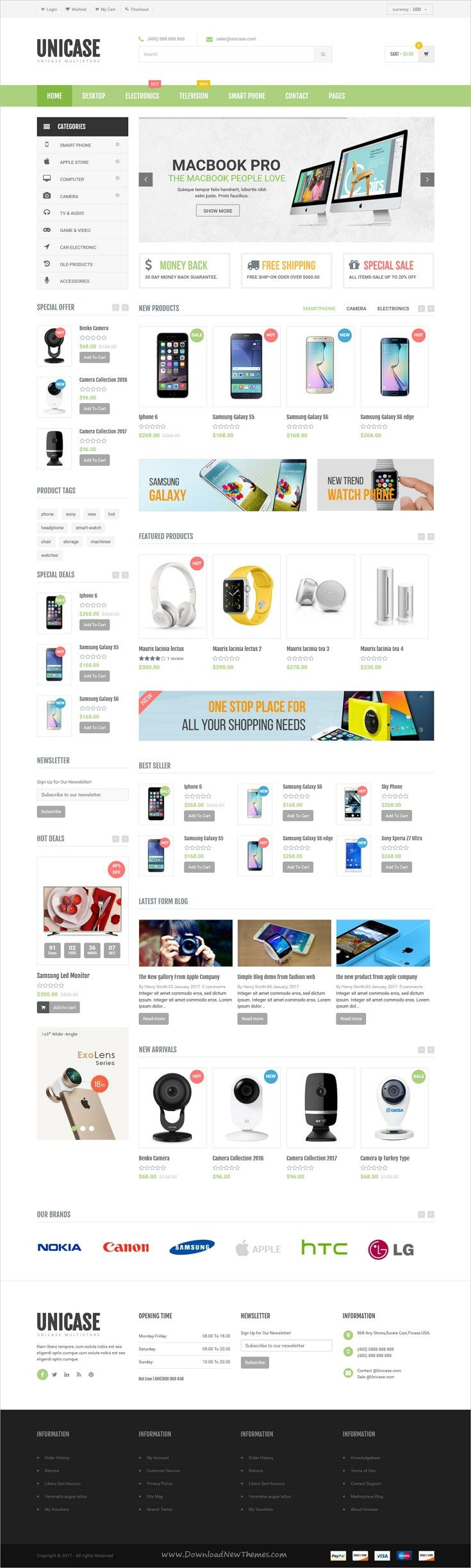 Unicase is a modern and user friendly responsive #Shopify theme for #Electronics, Fashion and Furniture #stores eCommerce website with 5 homepage layouts download now➩ https://themeforest.net/item/unicase-electronics-store-shopify-theme/19455896?ref=Datasata