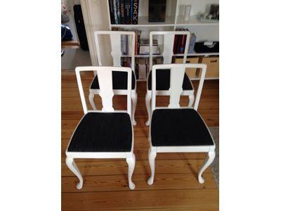 Spisebordsstol, Hvid
