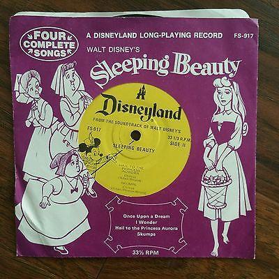 Vintage Sleeping Beauty Soundtrack Disneyland LP Record FS-917 4 Complete Songs