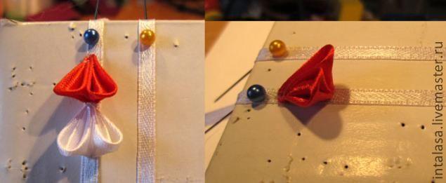 Для сотворения шидаре нам понадобится: в обязательном порядке: атласная лента шириной 2.5 см атласная лента шириной 3 мм паяльник/выжигатель/свечка/зажигалка клей момент гель зубочистки булавки какая-нибудь ненужная коробка из достаточно плотного картона. без чего можно обойтись: бусины штифты колечки узкогубцы бокорезы круглогубцы. Из ленты шириной 2.