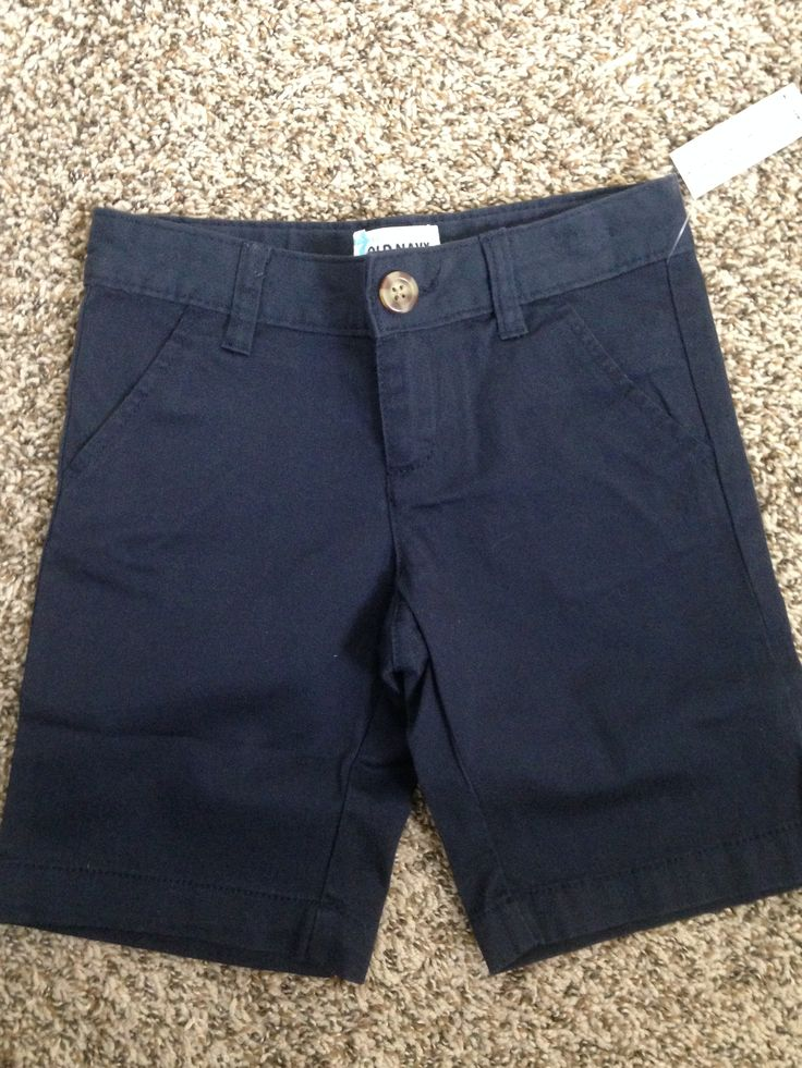 Old Navy - Navy Blue Bermuda Shorts (Bought Two) A. Old Navy - $8 each B. None C. Even though these are a little more structured than what my daughter would typically wear, we decided to try out the Bermuda shorts this year. No complaints from my daughter so far!