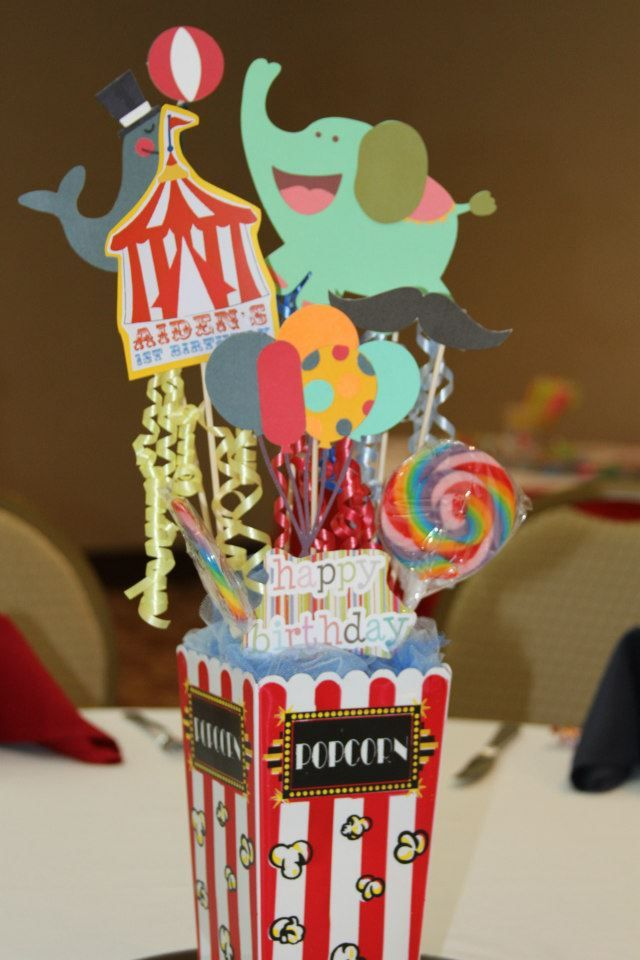 17 best ideas about circus theme centerpieces on pinterest circus party favors circus theme - Cheap circus decorations ...