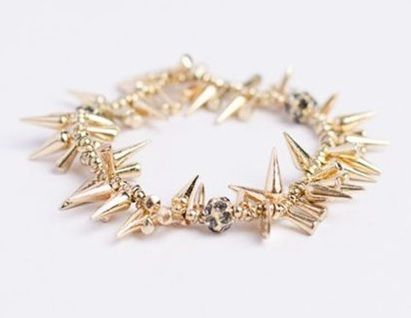 Piace Boutique - Outlaw Spike Bracelet - Gold, $14.00 (http://www.piaceboutique.com/outlaw-spike-bracelet-gold/)