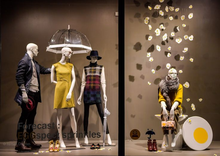 """_SAKS FIFTH AVENUE, Toronto, Canada, """"Forecast: EGGspect sprinkles"""", photo by James Doiron, pinned by Ton van der Veer"""
