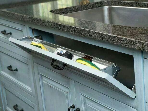 Storing sponges and dishwashing items