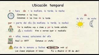 Preposiciones de tiempo en español. Tu escuela de español - YouTube