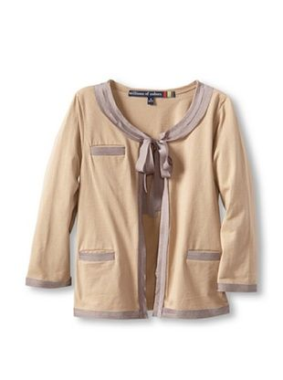 71% OFF Millions Of Colors Girl's Charmeuse Trimmed Cardigan (Rye)