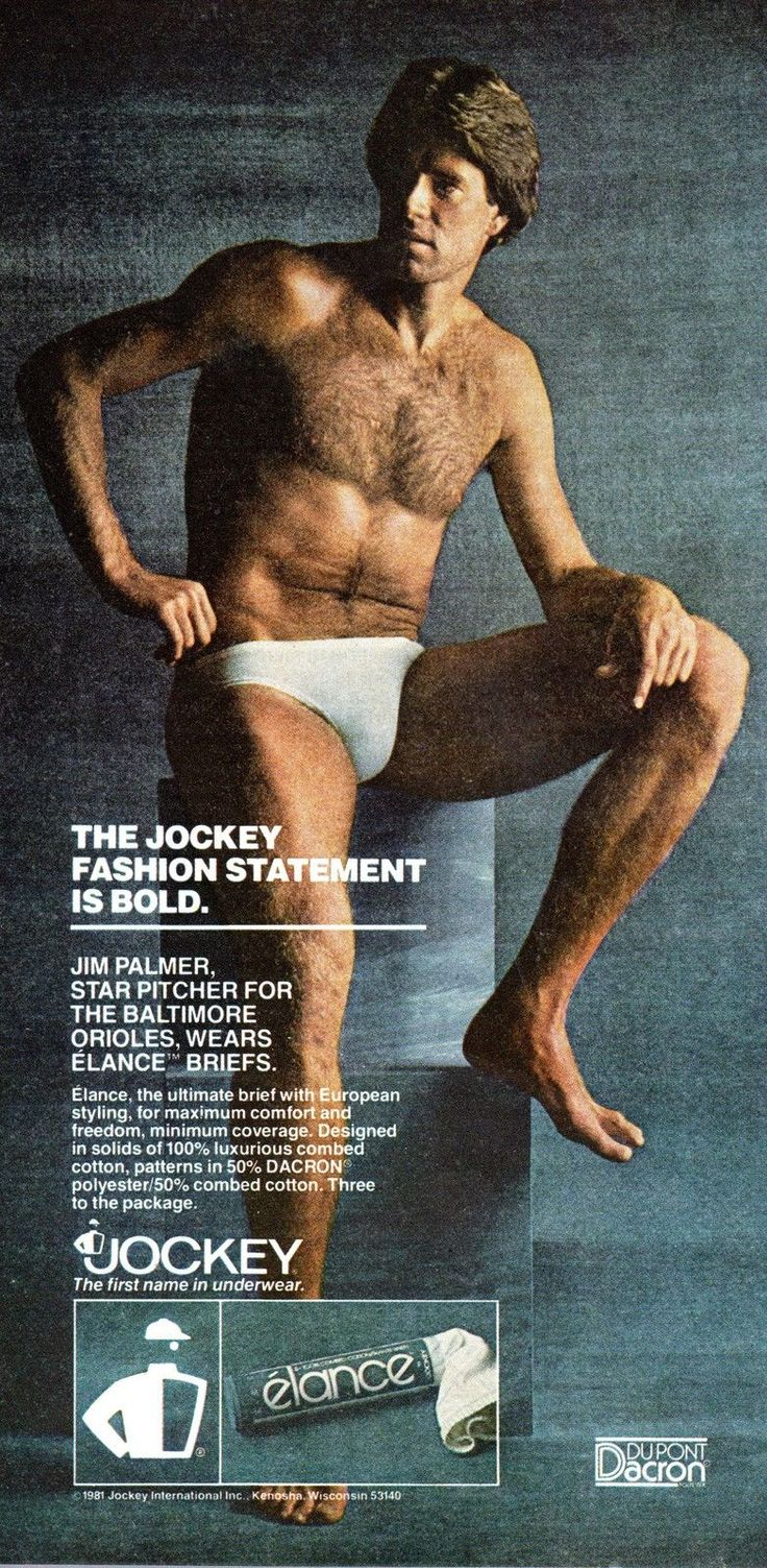 Vintage 1981 Jim Palmer for Jockey Underwear Print Ad Great to Frame