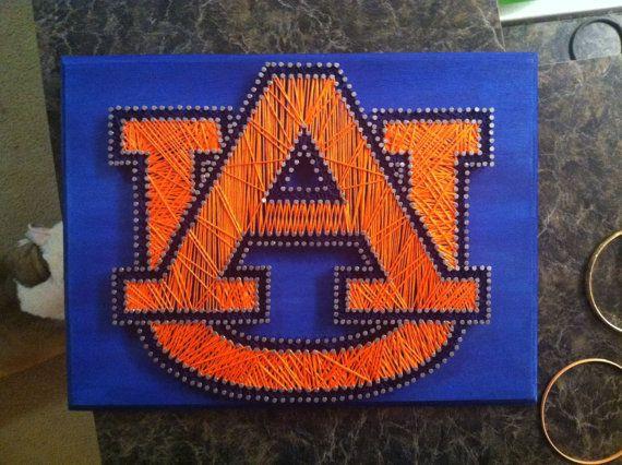 I Love String Art Auburn Logo String Amp Nail Art Customizable By Facedesigns On Etsy 65 00