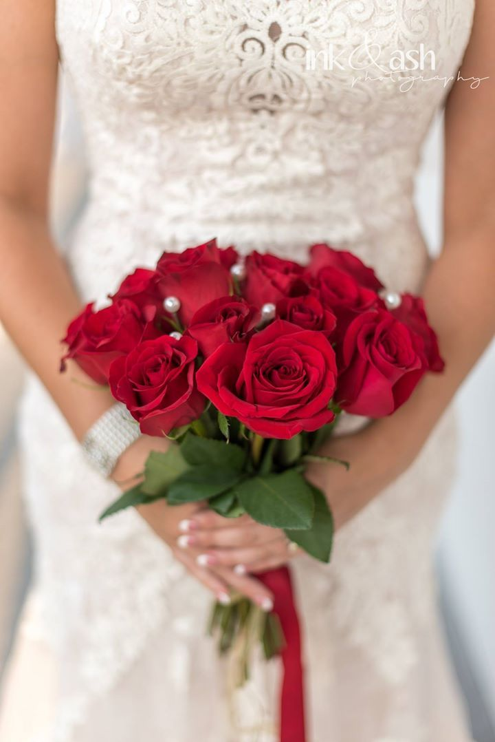 Bouquet of roses. Photo by Ink and Ash Photography