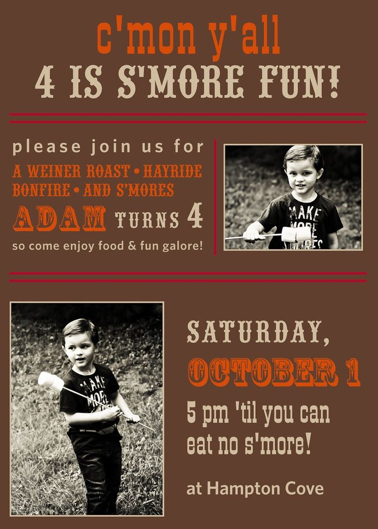 campfire birthday party ideas | CAMPFIRE & S'MORES Fall Party Birthday Boy ... | Future b'day party i ...