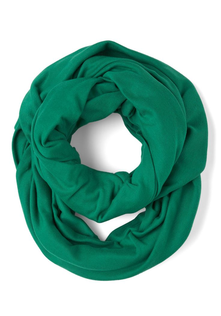 Start with the Basics Circle Scarf in Green - Blue, Solid, Cotton ...