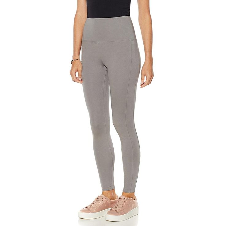 LYSSE Smoothing Stretch Solid Ponte Pant - Gray/Grey