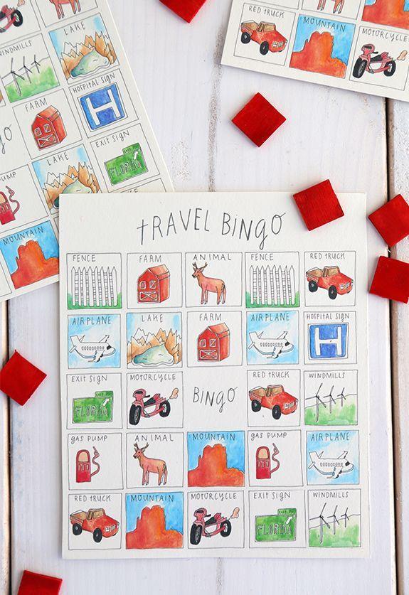 DIY Family Car Games: Travel Bingo Printable Traveling with Kids, Traveling tips, Traveling #Travel