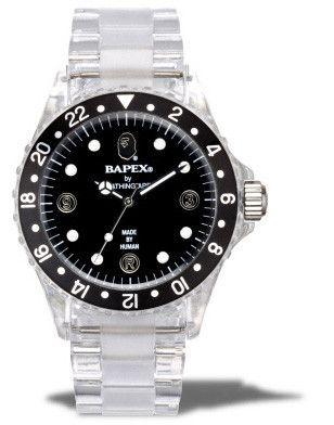 A BATHING APE HOLIDAY 2009 CLEAR BAPEX WATCH #PIFFMPLS #BAPE #WATCH #BAPEWACTH #CLEAR #BAPEX