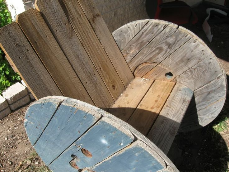 Wooden Spool Furniture | Thread: Wood spool chair