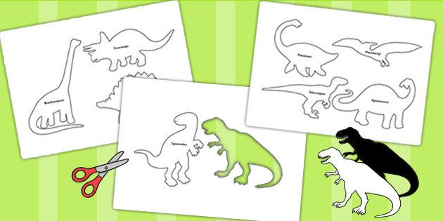 Dinosaur Shadow Puppets - dinosaurs, role play, roleplay ...