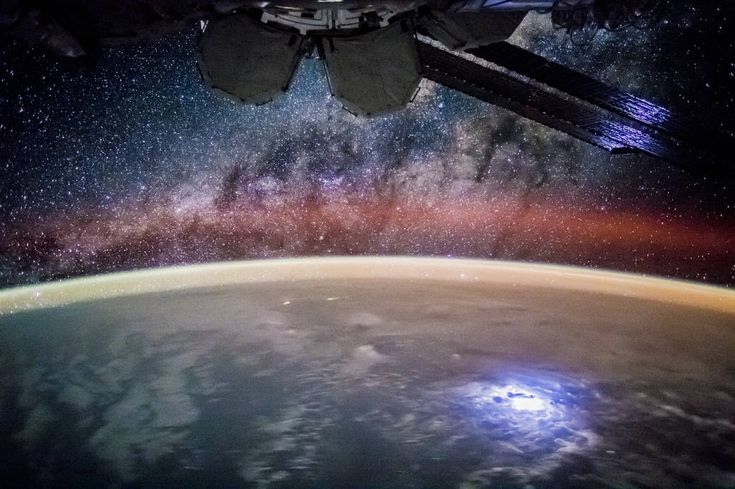 Stargazing From the International Space Station    Astronauts aboard the International Space Station (ISS) see the world at night on every orbit — that's 16 times each crew day. An astronaut took this broad, short-lens photograph of Earth's night lights while looking out over the remote reaches of the central equatorial Pacific Ocean./NASA Image of the Day | NASA
