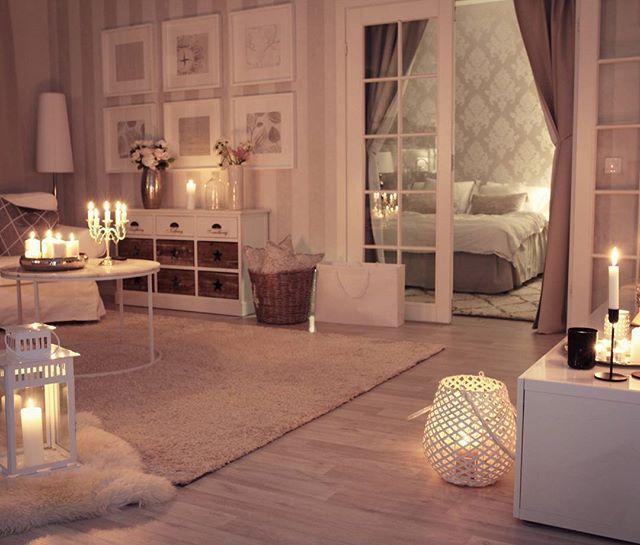 Instagram media by pellavaa_ja_pastellia - Candles everywhere#livingroom #night #bedtime