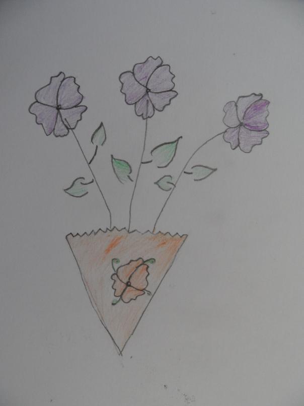 Hadia Ghulam Hasout, slečna, názov obrázka - Kvet