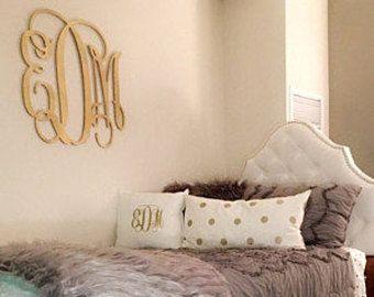 Painted Dorm Room Monogram - Monogram Wall Hanging - Wooden Initials - Wall Letters - Monogram Decor - Bedroom Wall Hanging