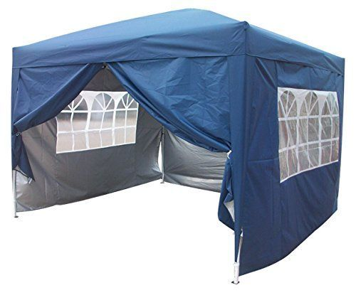 Brand New 10x10 EZ Pop Up Party Tent Canopy Gazebo Navy Blue 4 Walls W/ Free Carry Bag 100% Waterproof >>> Check this awesome product by going to the link at the image.