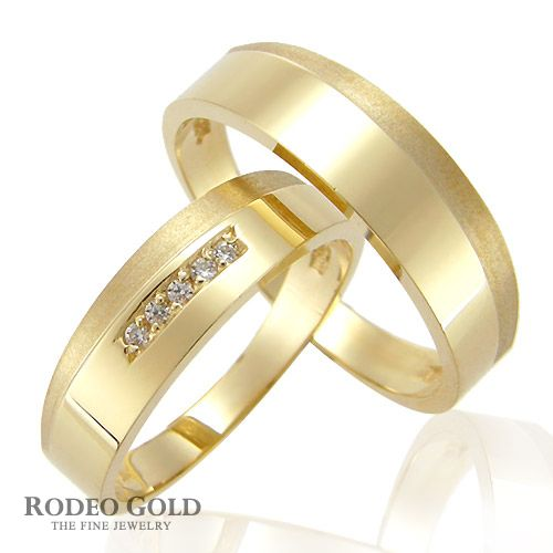Gold engagement rings with the simple design