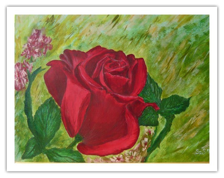Created by:  Szöllős Éva - Rose - acrylic, 20x30 cm wallboard.