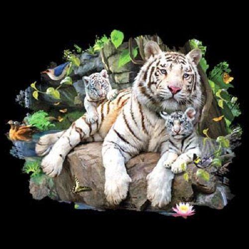 TSHIRT  White Tiger & Cubs T Shirt   Item by AlwaysInStitchesCo, $13.50