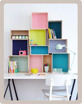 recouvrez vos boites de rangement de papier-peint, DIY